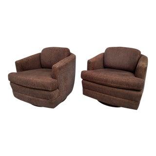 Mid-Century Milo Baughman Swivel Chairs - A Pair