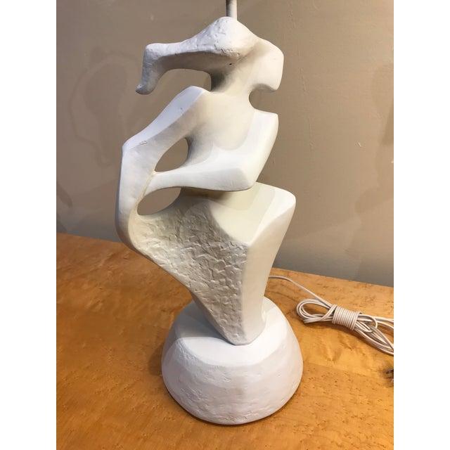 Plaster Plaster Abstract Feminine Figure Lamp For Sale - Image 7 of 8