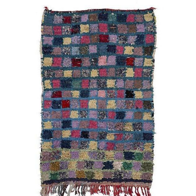 "Moroccan Boucherouite Carpet - 4'4""x2'8"" - Image 2 of 2"
