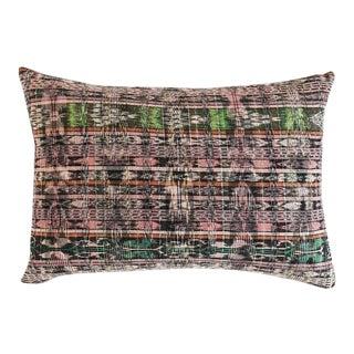 "Guatemalan Vintage Pink Pillow 22""x 13"""" For Sale"