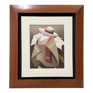 """Vintage Latin Oil Painting """"Armful of Calla Lilies"""" C.1970s For Sale"""