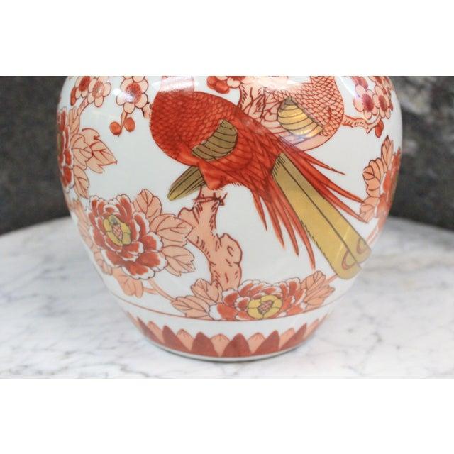 Imari Porcelain Chinese Imari Ginger Jar For Sale - Image 4 of 9