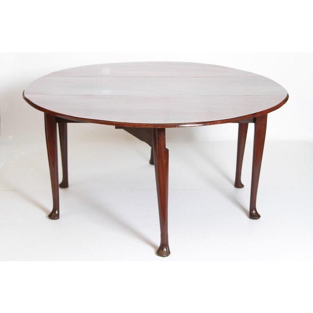 George II Mahogany Dining Table With Spanish Feet For Sale - Image 4 of 13