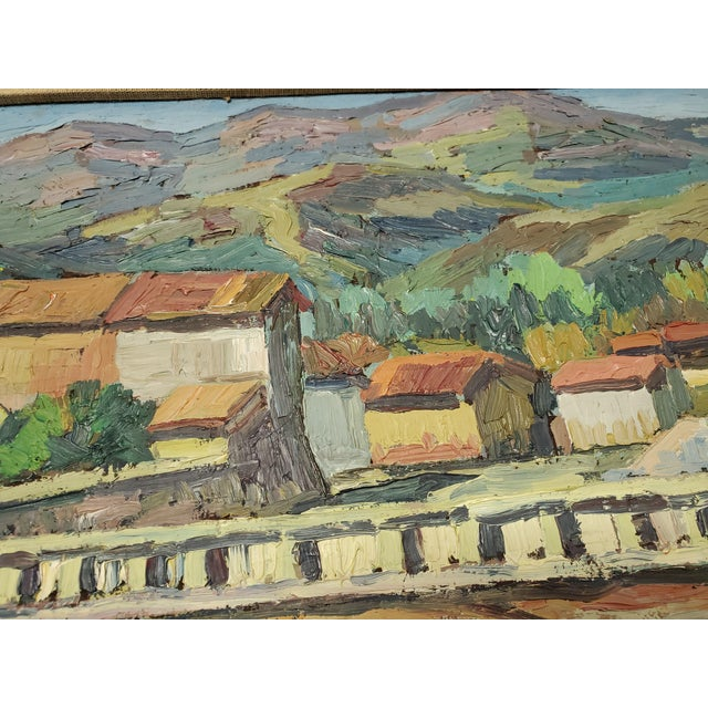 """Mid 20th Century """"The Bridge Before the Mountain"""" Painting For Sale - Image 12 of 13"""