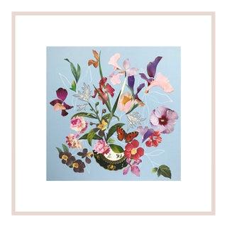 "Marcy Cook ""Villa Cimbrone Sunset"" Original Fine Art Collage For Sale"
