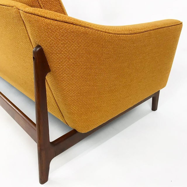 Mid Century Modern 4 Seater Sofa With New Upholstery Attributed to Folke  Ohlsson for Dux