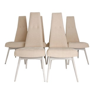 Vintage Used High Back Dining Chairs For Sale Chairish
