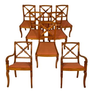 Restoration Dining Chairs With Armchairs - Set of 8 For Sale