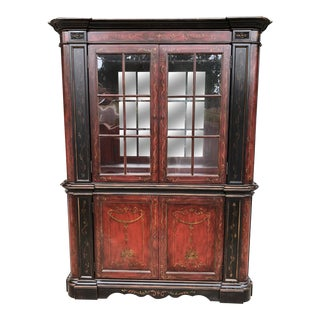 Contemporary Painted China Cabinet For Sale