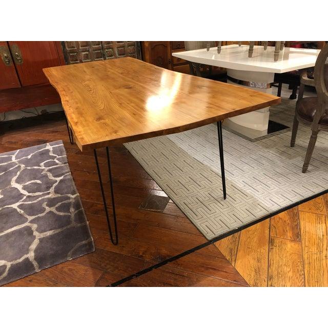 Modern Custom Live Edge Wood Table For Sale - Image 3 of 11