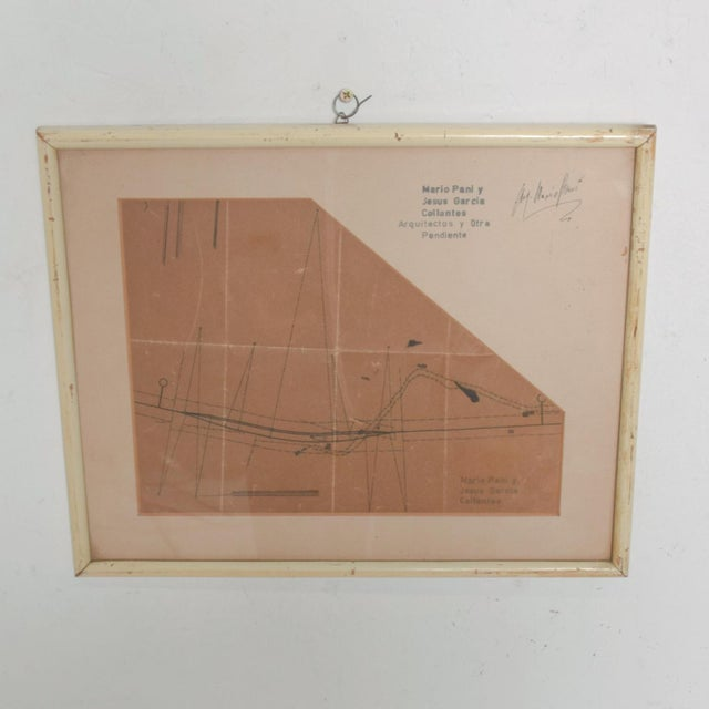 Art Architectural Sketch by Mario Pani and Jesus Garcia Collantes 1947 For Sale - Image 11 of 11