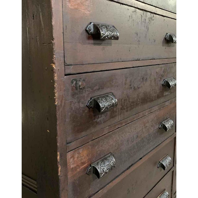 Industrial 19th Century Industrial Wooden Chest of 36 Drawers For Sale - Image 3 of 9