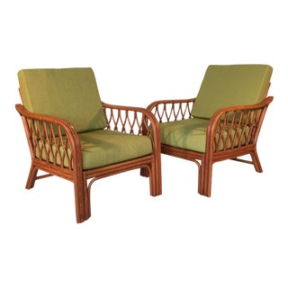 Vintage Bamboo Lounge Chairs - A Pair
