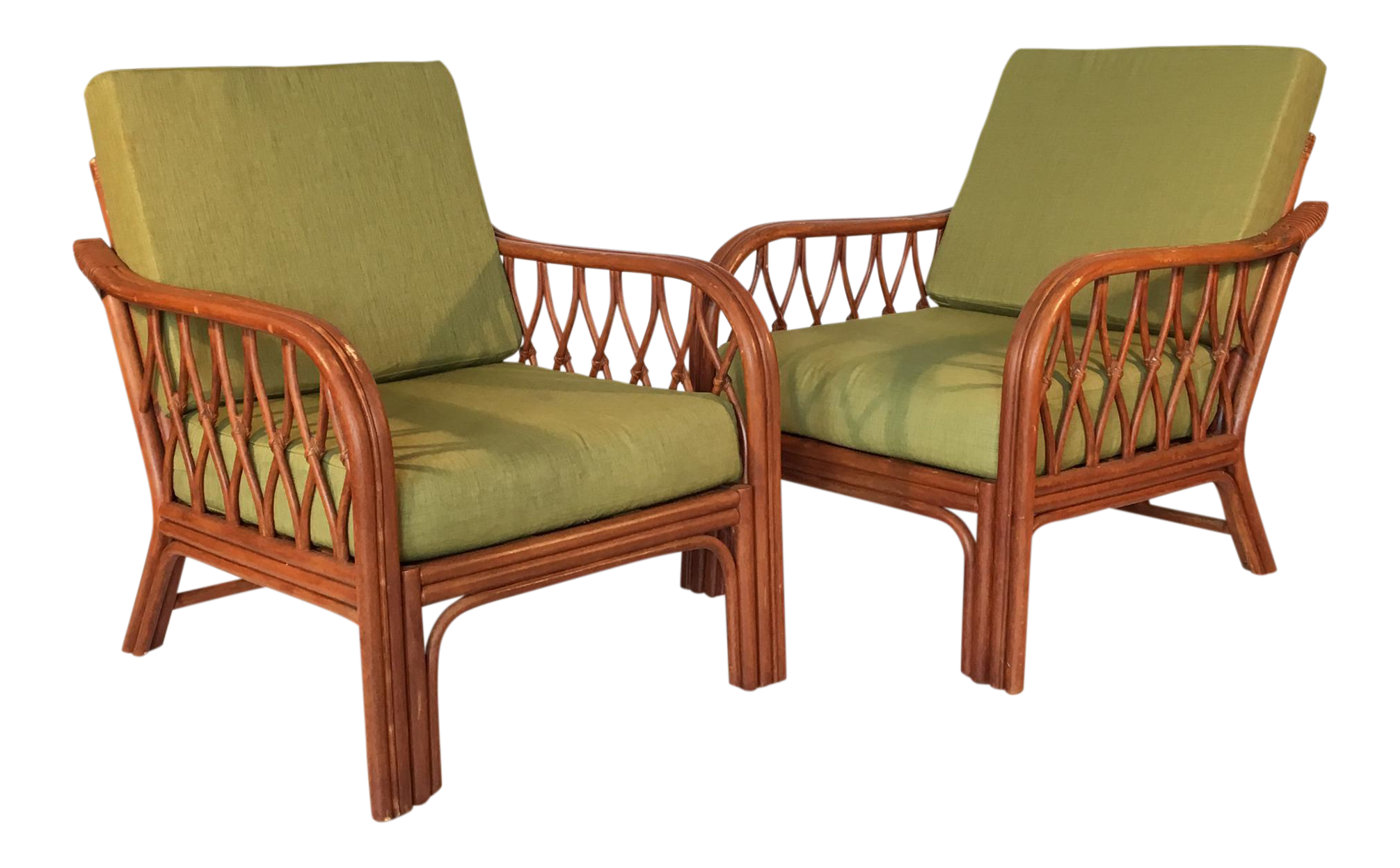 Charmant Vintage Bamboo Lounge Chairs   A Pair   Image 1 Of 8