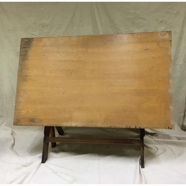 1930s Industrial Hamilton Mfg Adjustable Drafting Table For Sale In Washington DC - Image 6 of 6