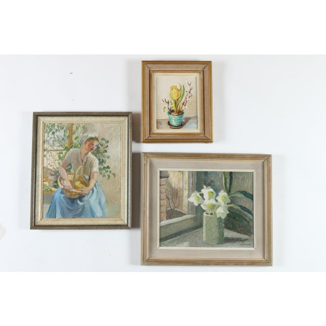 Instant gallery wall, a set of three oil on canvas paintings. Overall dimensions represent the layout shown, which has...