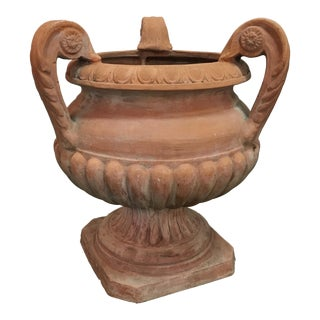 Italian Terra Cotta Urn W/Three Arms For Sale