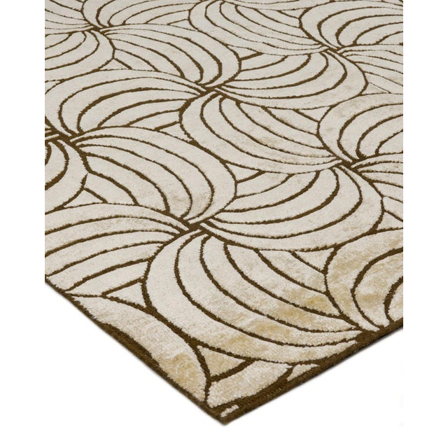 Solo Rugs Grit And Ground Collection Contemporary Maya Gold Hand Knotted Area Rug Multi 10 X 14 Chairish