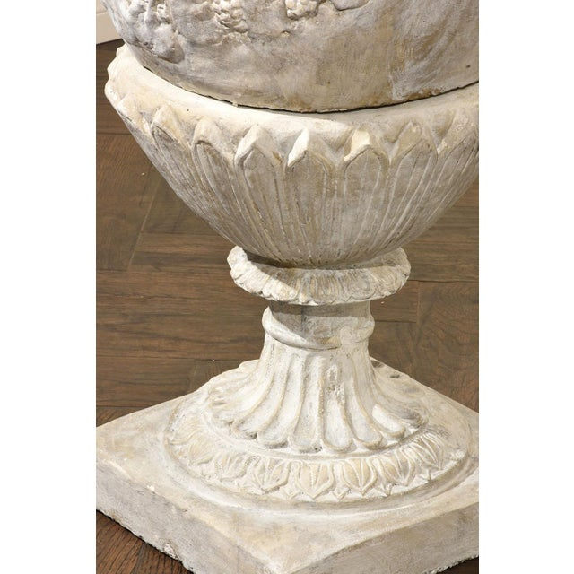 Pair of Grand Neoclassical-style Patio Urns - Image 9 of 10