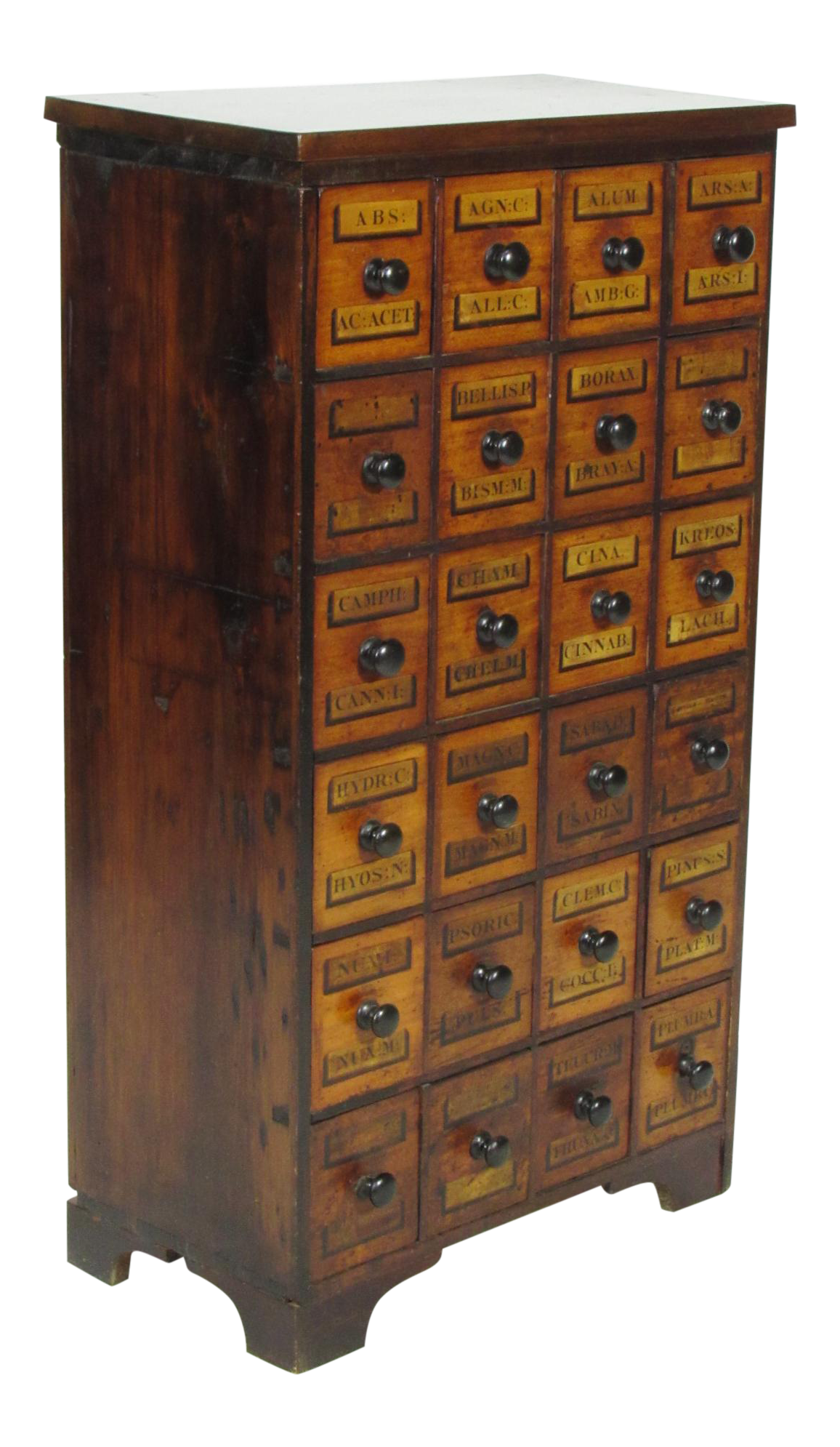 19th Century English Apothecary Chest For Sale