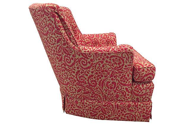 Woodmark Originals Tufted Swivel Club Chair   Image 3 Of 7