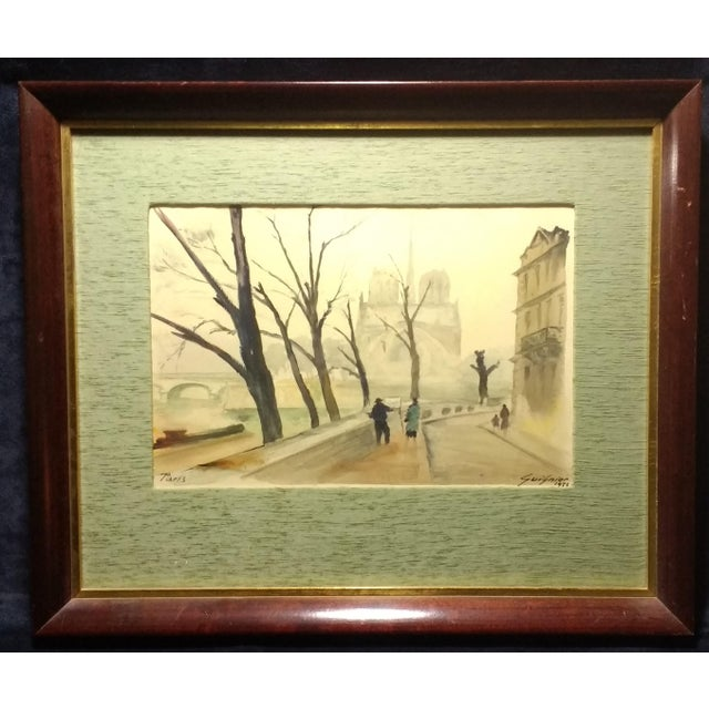 Paris Watercolor by Fernand Guignier, 1953 - Image 2 of 7