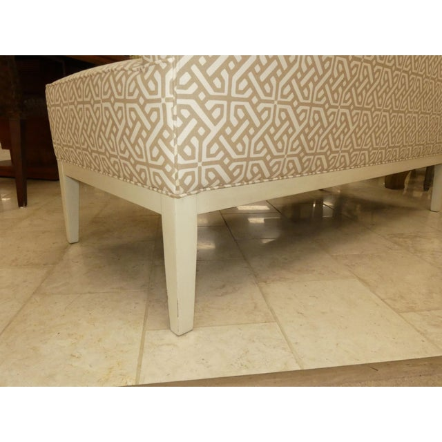 Wood Hickory Chair Upholstered Dining Bench . Banquette . Settee . Loveseat For Sale - Image 7 of 11
