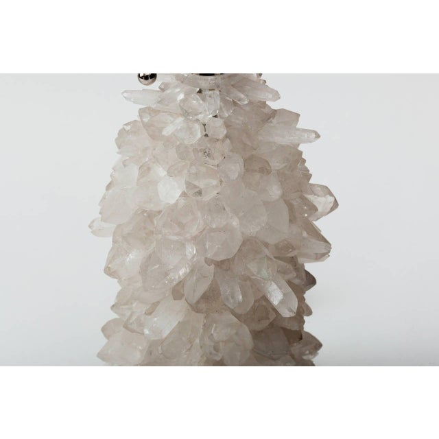 Early 21st Century Rock Crystal Cluster Lamps - a Pair For Sale - Image 5 of 7