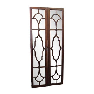 Vintage Mid Century Art Deco Interior French Doors For Sale