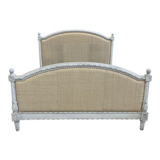 Oly Studio Raffia Bed Cal King For Sale