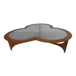 Clover Leaf Coffee Table by Lane For Sale
