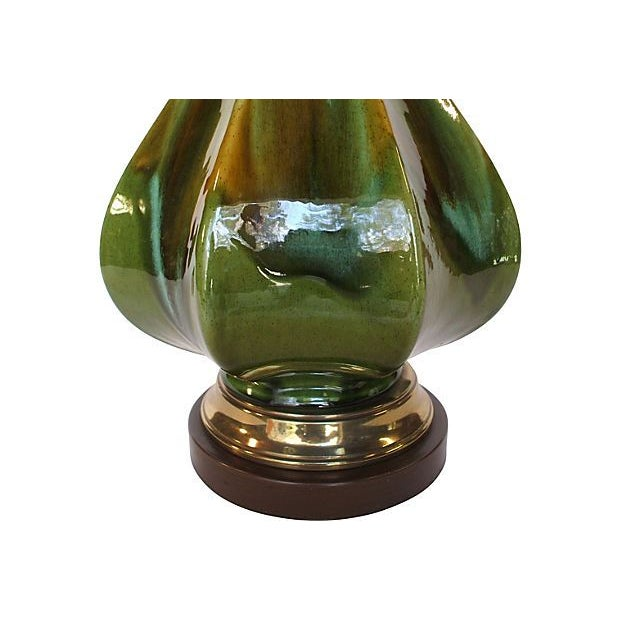 Glossy Green Teardrop Lamp - Image 2 of 4