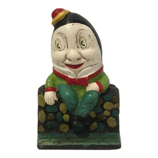 Vintage Cast Iron Humpty Dumpty Bank For Sale