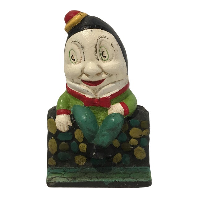Vintage Cast Iron Humpty Dumpty Bank For Sale
