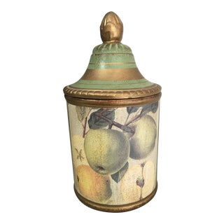 Vintage Italian Florentine Ceramic Apothecary Jar For Sale