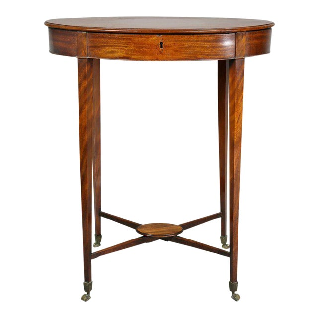 George III Mahogany Work or End Table For Sale
