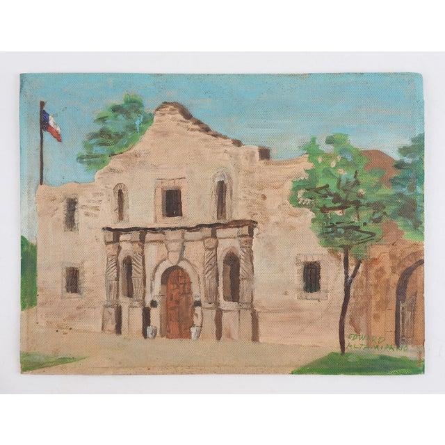 American The Alamo, San Antonio, Texas Painting For Sale - Image 3 of 4