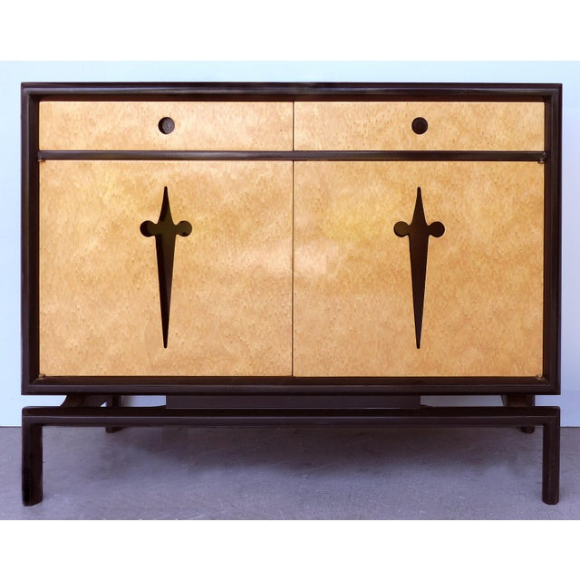 Edmund Spence Edmund Spence Bird's Eye Maple Cabinets (Sweden C1960) - a Pair For Sale - Image 4 of 13