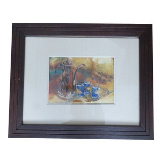 Vintage Mid-Century Boyce Totz Watercolor Still Life Painting For Sale