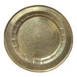 Image of Vintage Middle Eastern Hammered Brass Tray For Sale