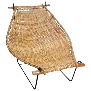 John Risley 'Duyan' Rattan and Iron Sling Chair