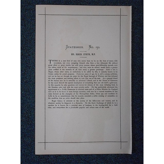 English Traditional Antique Vanity Fair Lithograph For Sale - Image 3 of 3