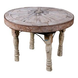Indian Bullock Cart Wheel Table For Sale