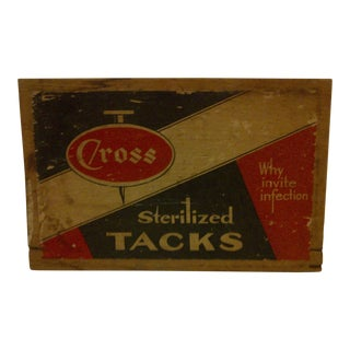 "Vintage Wood Crate Siding ""Cross Sterilized Tacks"" For Sale"