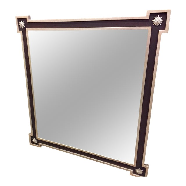 Neoclassical Hammered Tin Framed Mirror - Image 1 of 4