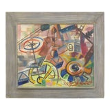 Image of 1940s Abstract Painting by Art Miller For Sale