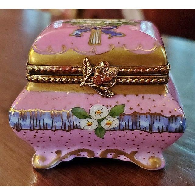 Vintage Limoges Sarcophagus Ring Box For Sale - Image 10 of 12