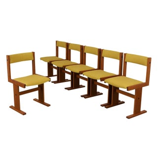 Completly Restored 1960's Set of Six Poul Hermann Poulsen Mid Century Dinning Chairs For Sale