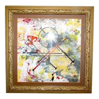 Vintage Abstract Painting by Zumba For Sale