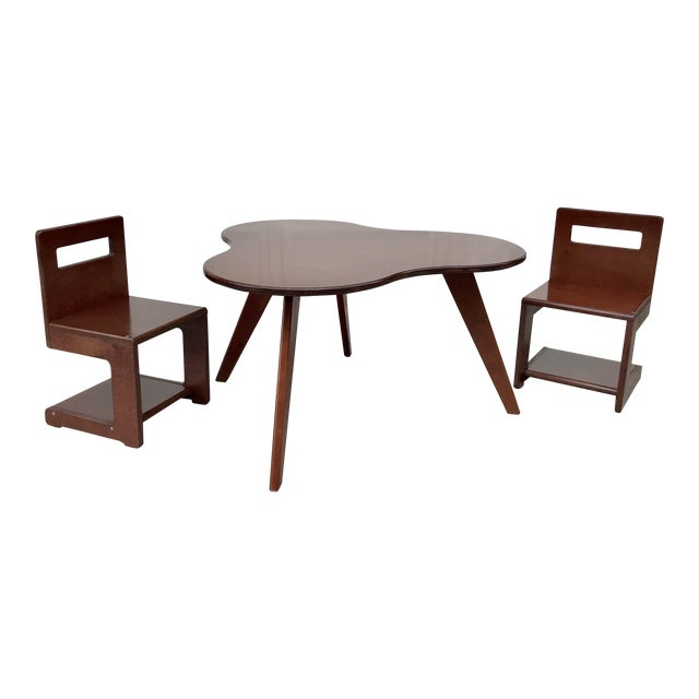Kids S Chairs and Amoeba Table Set - Image 1 of 4